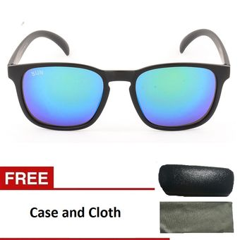 dafbc5000b0932 Classic Wayfarer Style Flach Lens Sunglasses- Blue  u2013 Discounted Price   PHP  u2013