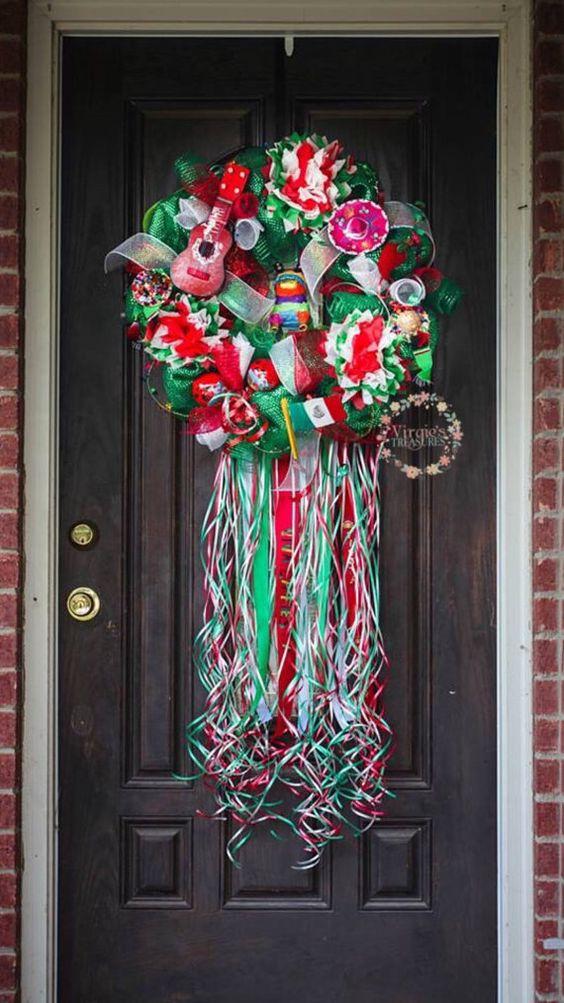 Cinco De Mayo Deco Mesh Wreath-Viva Mexico-Fiesta