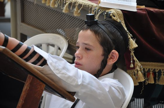 Young boy at the Western Wall, Jerusalem.