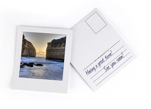 Oh, Hello Friend | Polaroid Postcard Notes. DIY with Instagram photos?