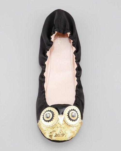 Kate Spade New York Cuckoo Owl Satin Scrunch Slipper
