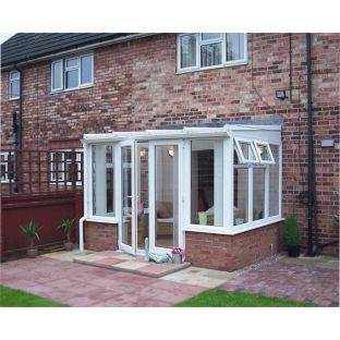Buy traditional dwarf wall small lean to conservatory for Sunroom sizes