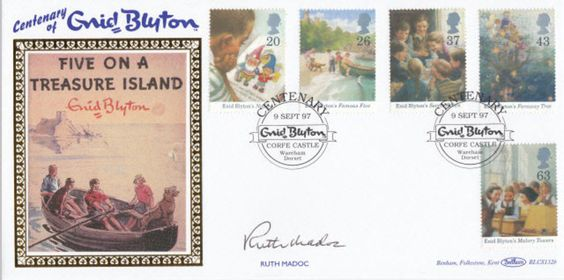 Benham FDC 1997 Enid Blyton Centenary Signed Ruth Madoc Welsh Actress & Singer