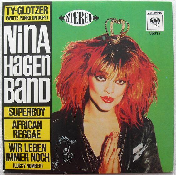 1980 NINA HAGEN 10 inch vinyl LP record single TV-Glotzer (White Punks On Dope)