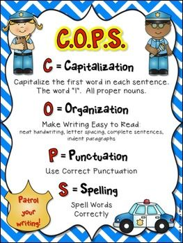 PATROL YOUR WRITING EDIT WITH 'COPS' - TeachersPayTeachers.com