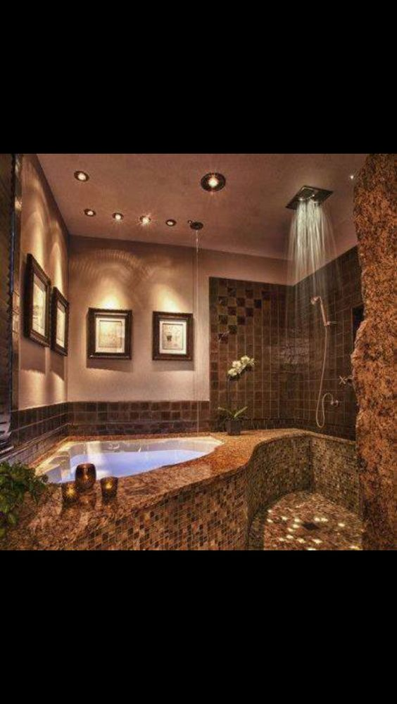 Small bathroom decorating ideas beautiful waterfall for Beautiful small master bathrooms