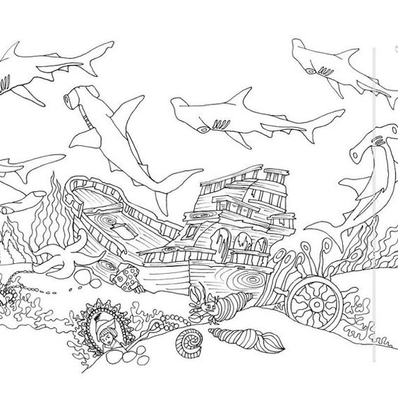 Coloring Ocean And Coloring Pages On Pinterest