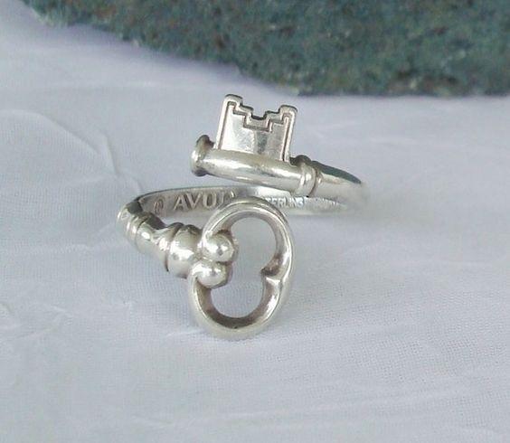antique key ring.