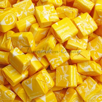 Lemon Yellow Starburst Candy from Temptation Candy! Simply delish. #Starburst #StarburstCandy #LemonCandy