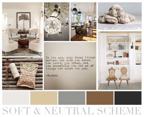 Soft Neutral Color Scheme Using Tan Soft Gray Brown And