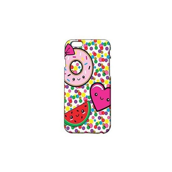 Cute Donut and Watermelon Plastic Phone Case for Iphone 6 ❤ liked on Polyvore featuring accessories, tech accessories and prepaid smartphones