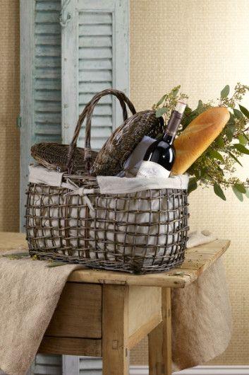 Cesta de picnic en mimbre   -   Willow Picnic Basket