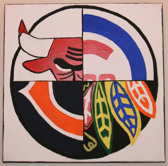 Chicago Sports Mural canvas