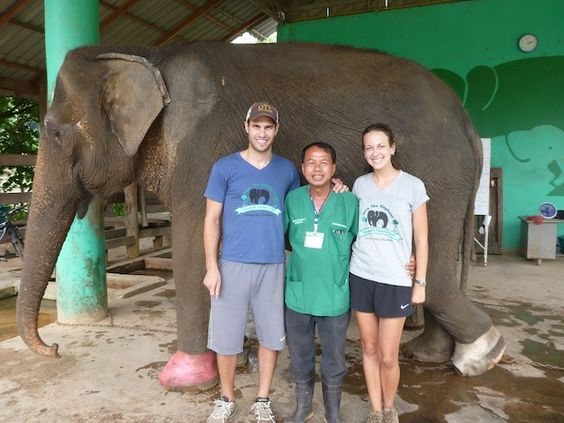 Congrats Emily from your friends at Hyde Park Feed!     Veterinarian students, Emily and Ryan, are volunteering with elephants deep in the Thai jungle.
