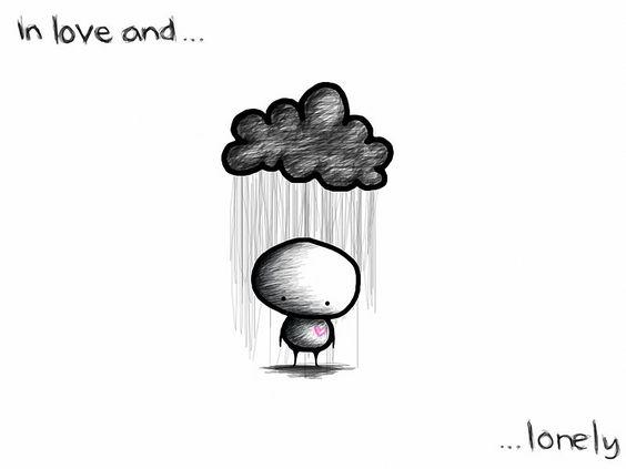 Bilder, Zeichnung, Liebe, Trauer, Traurigkeit, Einsamkeit, regen, Herz, Wolke Hintergrundbilder, Fotos