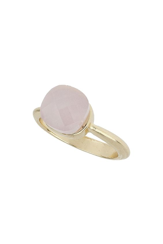 Square Pink Stone Ring - Jewellery - Bags & Accessories - Topshop Thailand