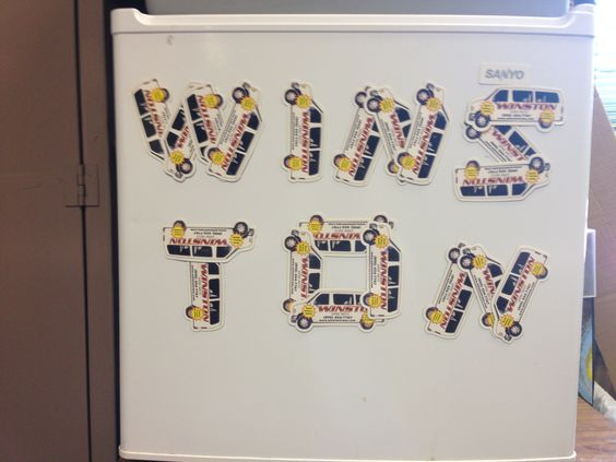 We're so passionate about Winston, even our fridge gets decorated!