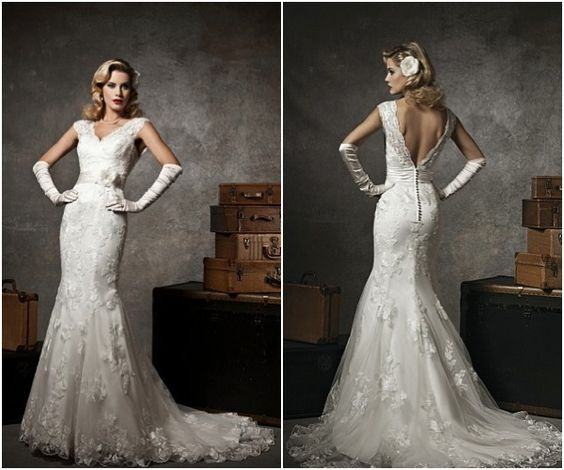 Found 1950s inspired wedding dresses by justin alexander for Old hollywood wedding dress
