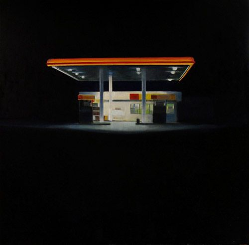 Painting-Cityscape-Trevor Young: Night Pumper