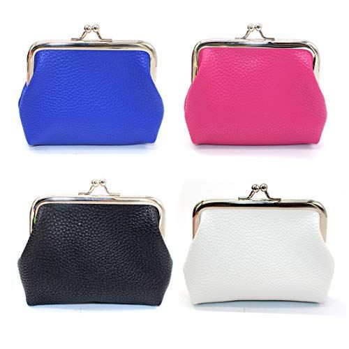 Oyachic Mini Coin Purse Vintage Change Purse Clutch Wallet kiss lock Pouch with Clasp Closure Gift for Girl Women Khaki