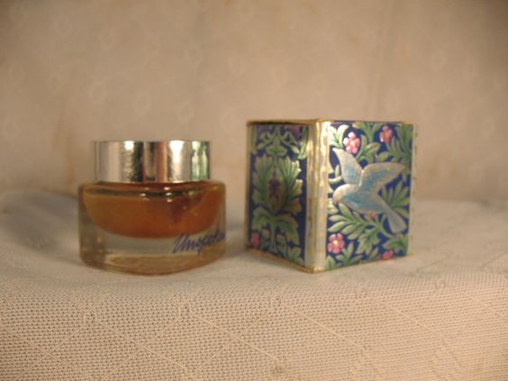Vintage AVON Unspoken creme perfume bottle with decorative floral bird foil box... This was my favorite! Wish it were back