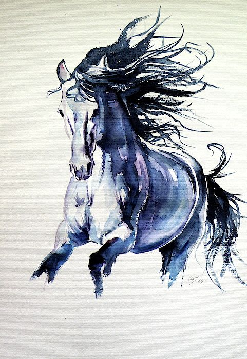 Running Horse In 2020 Watercolor Horse Running Horses Horse