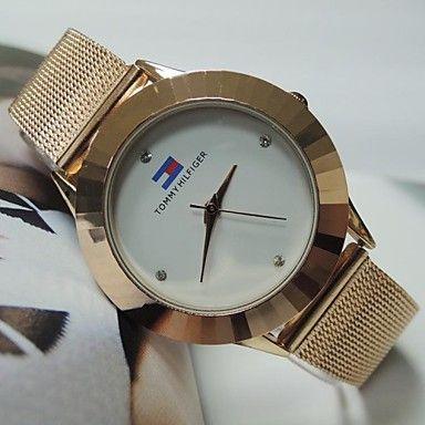 relógio relógio da liga disco band moda quartzo das mulheres (cores sortidas) – EUR € 12.99