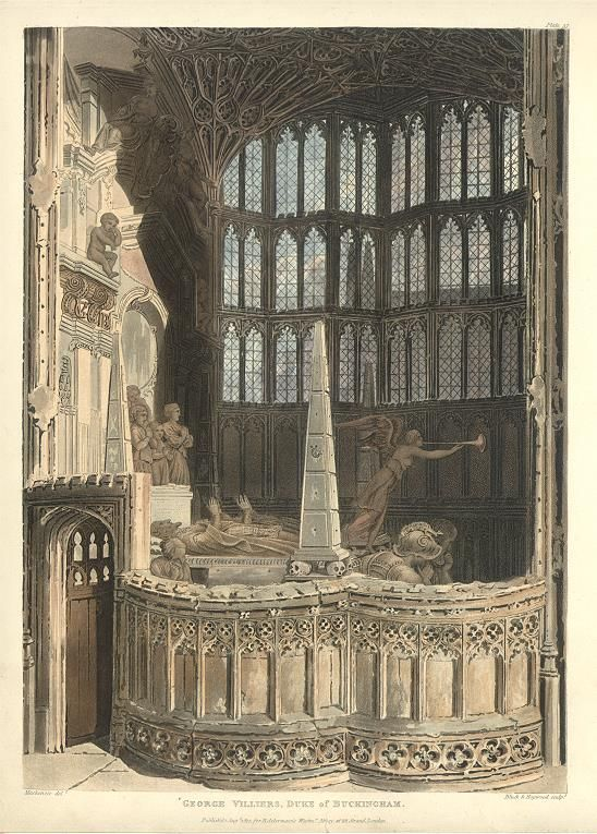 Westminster Abbey, Monument to George Villiers, Duke of Buckingham, 1812