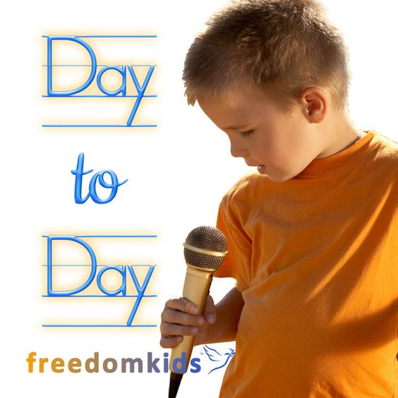 Day to Day song!  Download for free at https://freedomkids.bandcamp.com/track/day-to-day-1-chronicles-16-23.  Donate today!