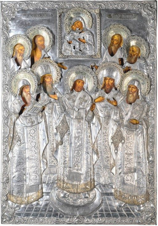 Russian icon of the Rostov saints
