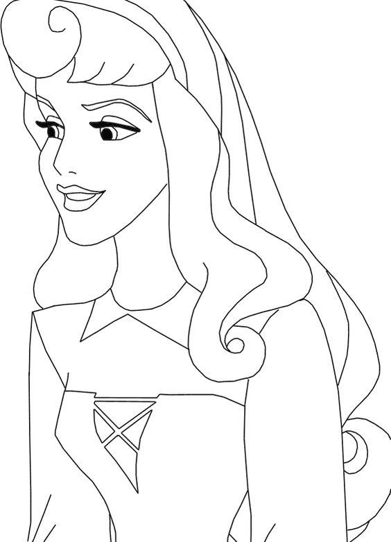 disney princess aurora coloring page  shr coloring book
