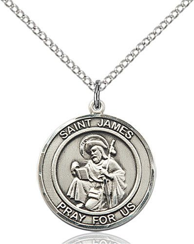St. James the Greater Pendant (Sterling Silver) by Bliss | Catholic Shopping .com