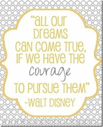 When I was waiting to hear if I would go to Hawaii or not I had this quote printed across the top of my monitor at work. :-) looks like a little advice from Walt went a long way. All the way to Aulani! ♥