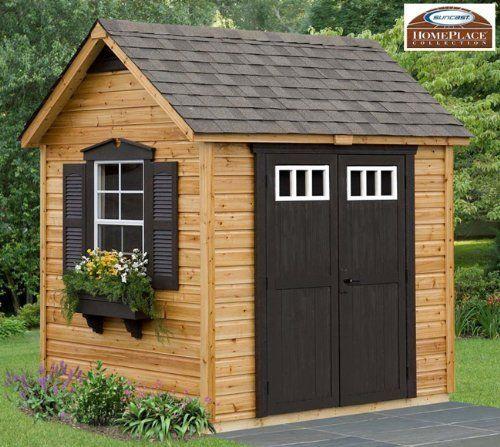 amazoncom legacy 8 x 6 wood garden and storage shed building kit home improvement yard ideas pinterest wood gardens building and storage