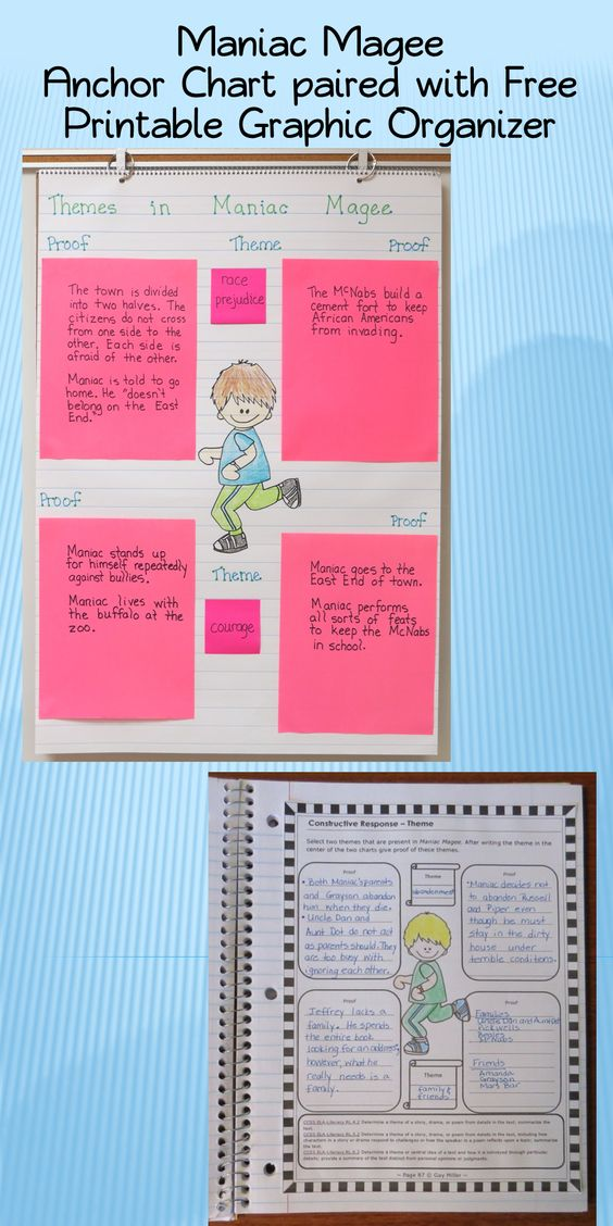 FREE PRINTABLE GRAPHIC ORGANIZER pairs with ANCHOR CHART