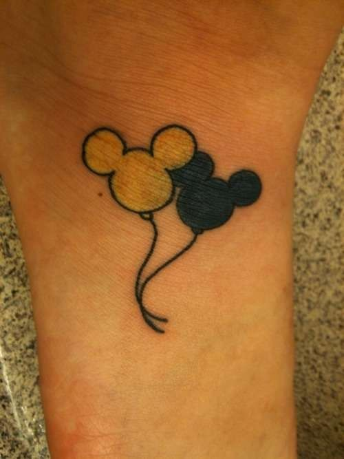 disney tattoo. Wouldn't go for the yellow, but this is cute nonetheless.