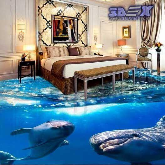 3d Dolphin Flooring 3d Dolphin Tile 3d Epoxy Floor For Bedroom 3d Dolphin Flooring And Photo Printing On Floors The Be Flooring Epoxy Floor 3d Floor Murals