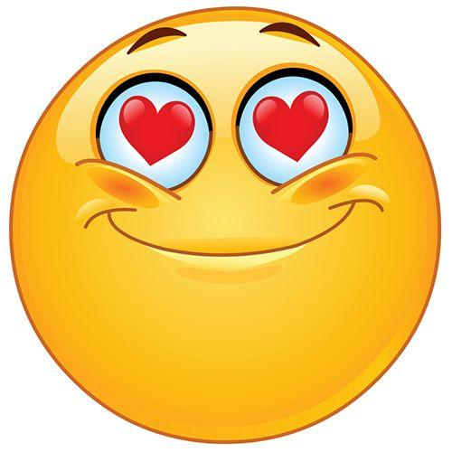 Emoticono ojos en forma de corazón: Esta cara demuestra amor, adoración, o gratitud. Puede utilizar para una persona, un lugar o una cosa.