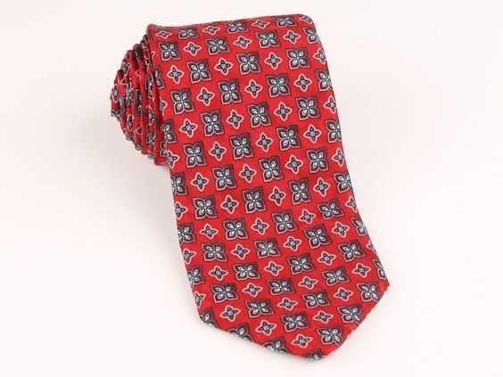 CLASSIC Robert Talbott Best of Class Red Hand Sewn Skinny mens Tie