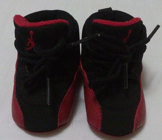 Air Jordan 12 Kids Black Red shoes