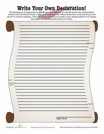 the declaration declaration of independence and printables on pinterest. Black Bedroom Furniture Sets. Home Design Ideas