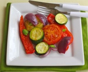 Italian Roasted Vegetables with Summer Basil.  Looking for an excuse to start grilling?  Here's one, try this simple yet tasty super food veggie recipe