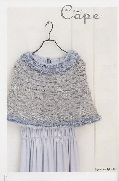 Easy Cape Knitting Pattern : Easy, Kawaii Shawl, Cape, Margaret Knit - Japanese Knitting & Crochet Pat...