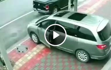 Ainda bem que deu tempo dele parar o carro