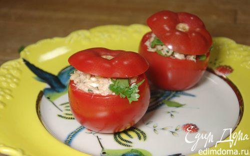 Помидоры, фаршированные тунцом    Кулинарные рецепты от «Едим дома!»