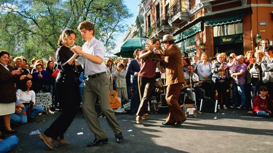 A Tango demonstration in San Telmo, Buenos Aires