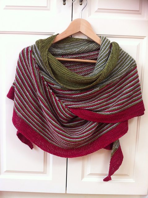 colour affection shawl using tough stocking in fatigued and silk stocking in fog bound.: