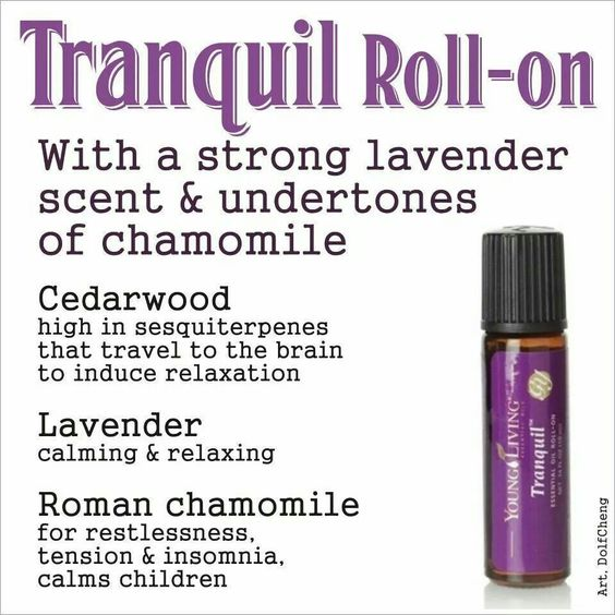 Tranquil Roll On Young Living Essential Oil Pinterest