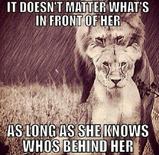 It doesn't matter what's in front of her, as long as she ...