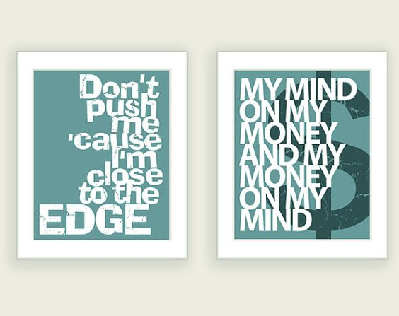 Hip Hop art - a dollar to the person who know what song the lyrics on the left are from